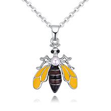 镀真金项链--可爱小蜜蜂A款(棕色)