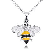 镀真金项链--可爱小蜜蜂B款(白色)