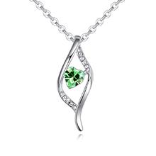 奥地利水晶项链--心之迷恋(橄榄)