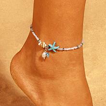 韩版个性海星珍珠贝壳脚链