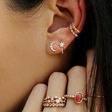 欧美复古戒指耳环组合套装