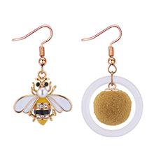 韩版可爱不对称小蜜蜂耳环