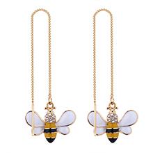 韩版时尚简约小蜜蜂耳环