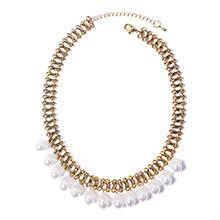韩版创意小花朵珍珠项链