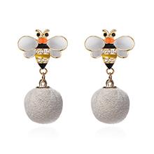 韩版小清新可爱蜜蜂毛球(白色)