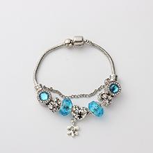 欧美时尚个性创意爱心手链(海蓝)