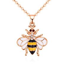 韩版简约个性小蜜蜂项链(黄色)