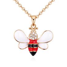 韩版简约百搭可爱小蜜蜂项链(红色)
