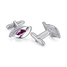 奥地利水晶袖扣--相伴(紫色)