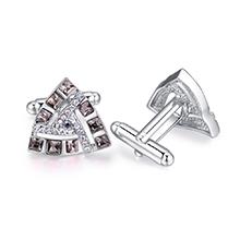 奥地利水晶袖扣--唯爱三角(黑钻石)