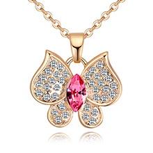 奥地利水晶项链--暗香飞舞(玫红)