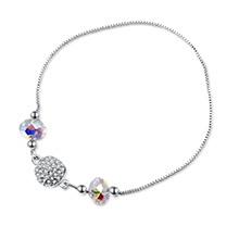 奥地利水晶手链--幸运之圆(白色)