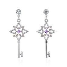 奥地利水晶耳环--花之匙(紫罗兰)
