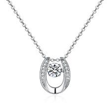AAA级锆石项链--灵动的圆(白金)