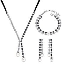 韩版个性创意珍珠流苏套装