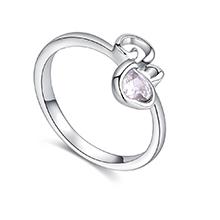 镀真金戒指--一世爱恋(白色)