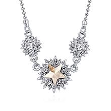 奥地利水晶项链--缤花纷飞B款(金色魅影)
