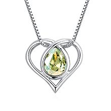 奥地利水晶项链--水灵之心(夜光绿)