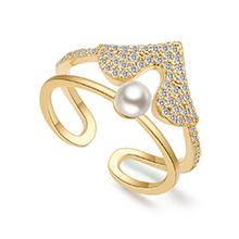 镀真金戒指--心焰骑士(14K金)