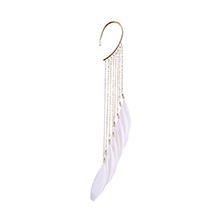 波西米亚风气质超仙羽毛耳挂(白色)
