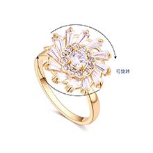 镀真金旋转戒指--初恋物语(14K金)