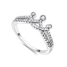 镀真金戒指--魔法皇冠(白金)