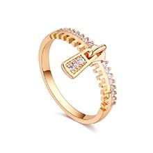 镀真金戒指--珍重流年(14K金)