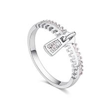 镀真金戒指--珍重流年(白金)
