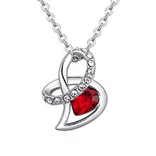奥地利水晶项链--爱的礼物(浅红)