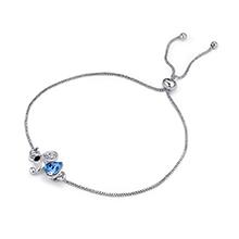 水晶手链--绅士小象(海蓝)