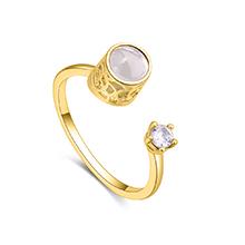 镀真金戒指--100种语言我爱你(14K金)