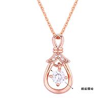 AAA级锆石项链--灵动琵琶(玫瑰金)