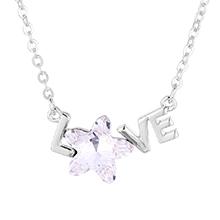 奥地利水晶项链--LOVE五角星(白色)