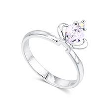 奥地利水晶戒指--皇冠(白色)