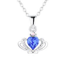 奥地利水晶项链--皇冠(蓝色)