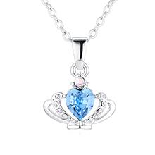 奥地利水晶项链--皇冠(海蓝)