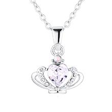 奥地利水晶项链--皇冠(白色)