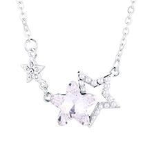 水晶项链--星星守护(白色)