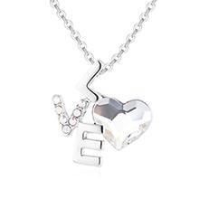 奥地利水晶项链--LOVE心语(白色)
