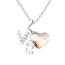 奥地利水晶项链--LOVE心语(金色魅影)