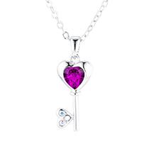 奥地利水晶项链--心房钥匙(紫色)