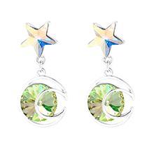 奥地利水晶耳环--星月传奇(夜光绿)