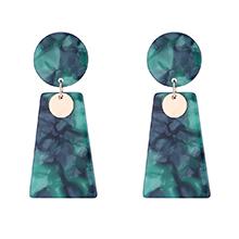 韩版复古时尚圆圈耳环(墨绿)