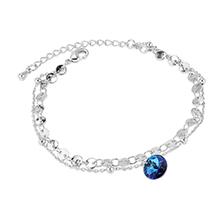 奥地利水晶手链--圆舞曲(白金+蓝光)