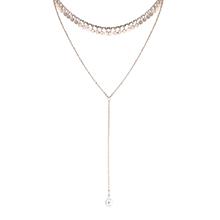 奥地利水晶项链--贵族项链(14K金+彩白)