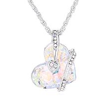 奥地利水晶项链--心心之恋(彩白)