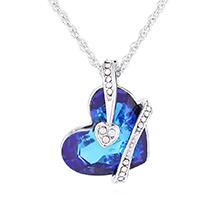 奥地利水晶项链--心心之恋(蓝光)