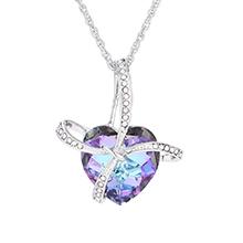 奥地利水晶项链--心愿(蓝光)