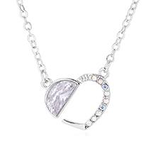 进口水晶项链--心月