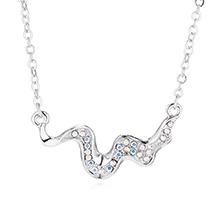 进口水晶项链--抚琴(彩白)